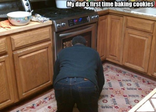His First Time Baking funny picture