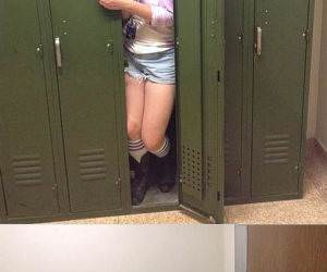fit in the locker funny picture