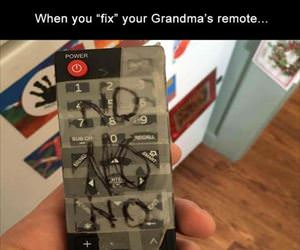 fixed grandmas remote