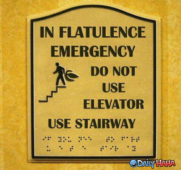 Flatulence Emergency Sign