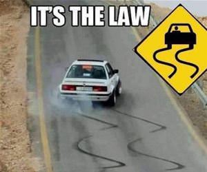 following the law funny picture