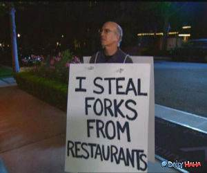 Fork Thief funny picture