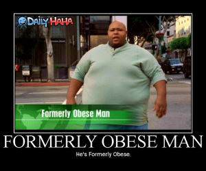 Formerly Obese Man Funny Picture