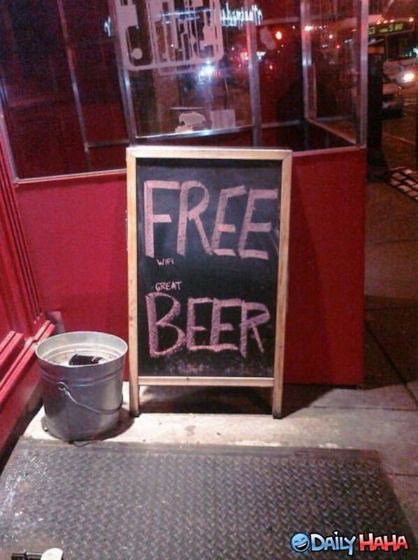 Free Beer funny picture