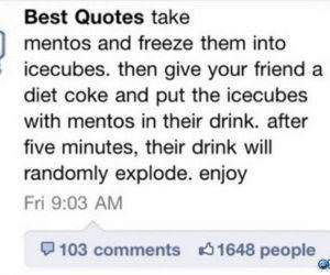Frozen Mentos funny picture