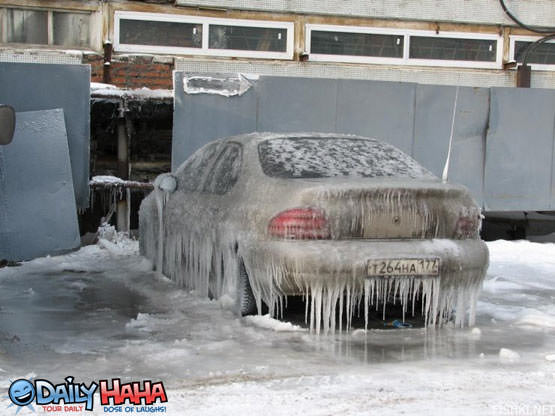 Frozen Ice Car