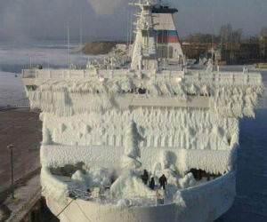 Frozen ship