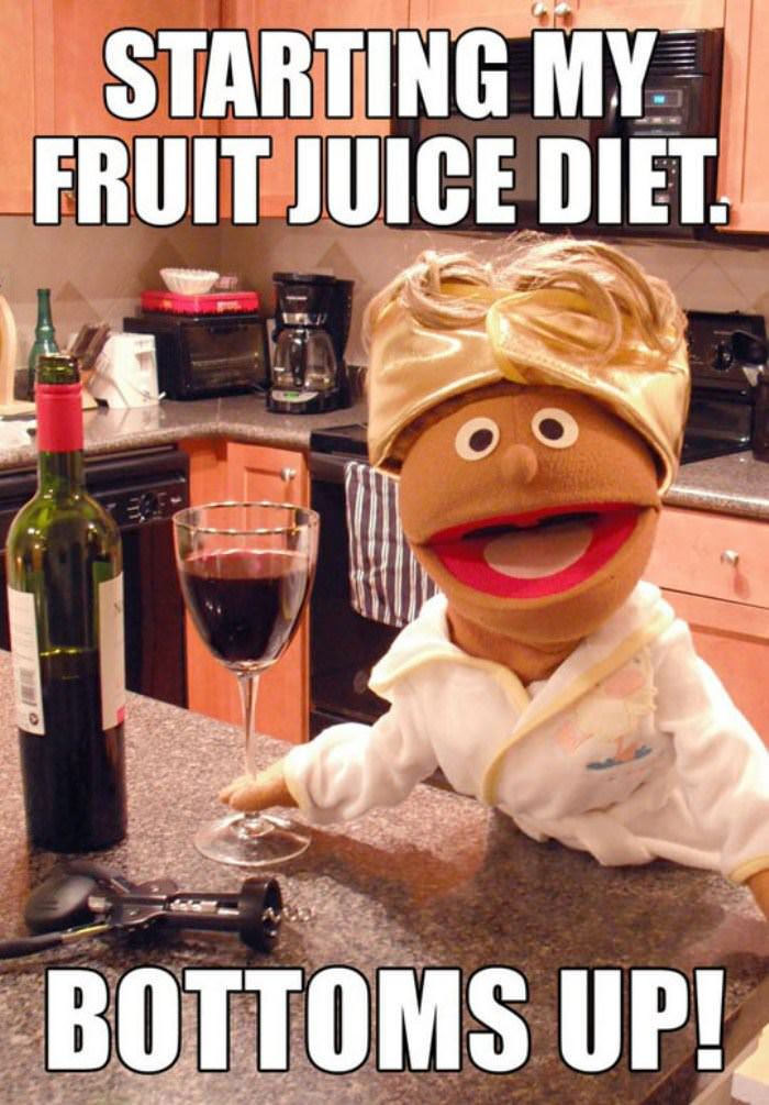 fruit juice diet funny picture
