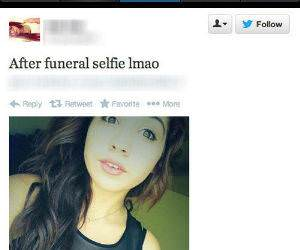 Funeral Selfies funny picture