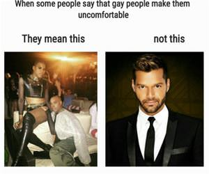 gay people make me uncomfortable funny picture