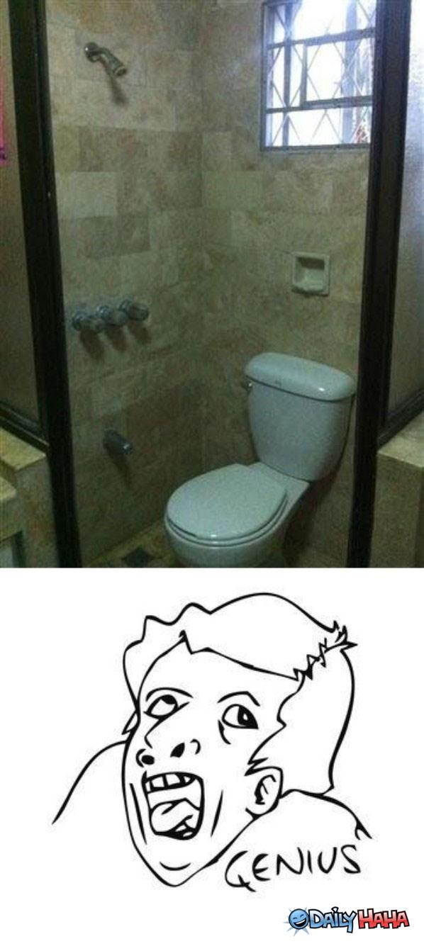 Genius idea for Bathroom 9gag