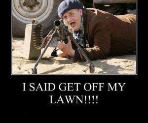 Get Off My Lawn funny picture