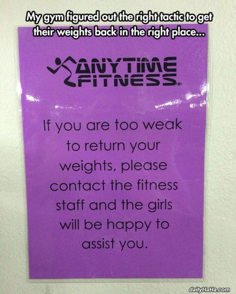 get the weights back funny picture