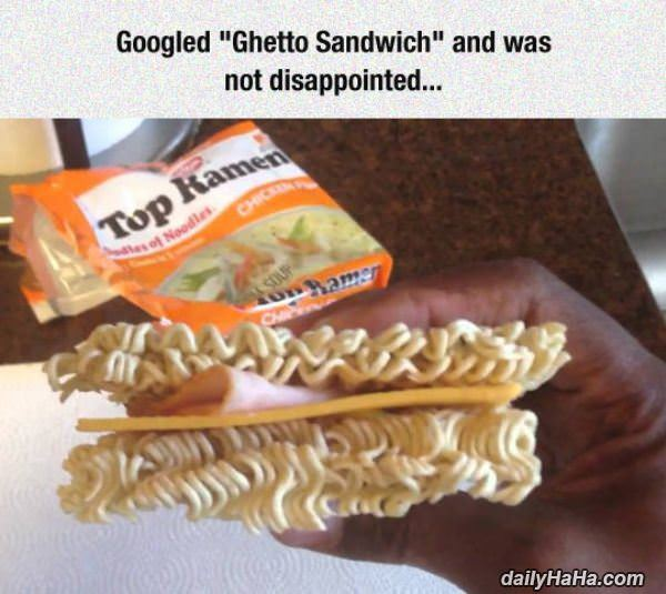ghetto sandwich funny picture