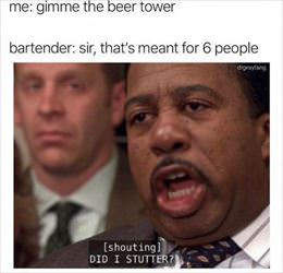 give me the beer tower