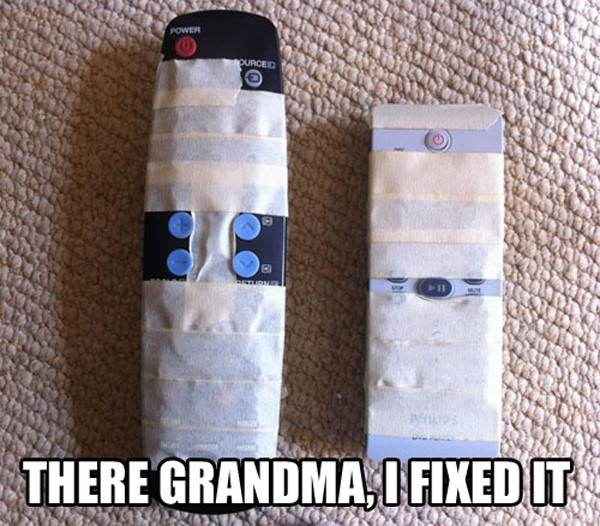 Grandma Friendly Remote funny picture