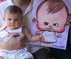 Pouting baby Caricature