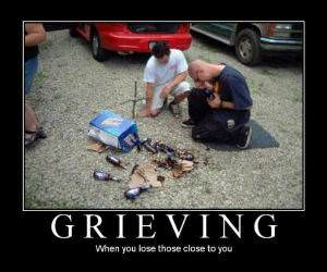 Grieving for beer