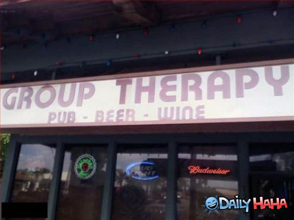 Funny Pictures Group-therapy-bar