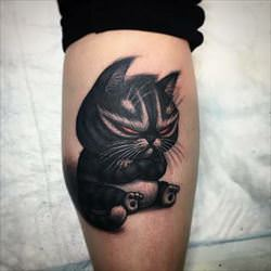 grumpy tattoo cat