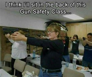 gun safety class funny picture