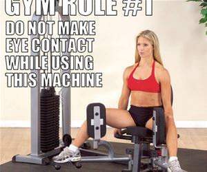 gym rule 1 funny picture