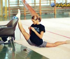 Cute flexible girl