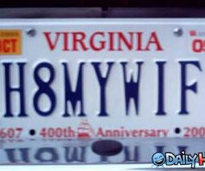 H8MYWIF liscence plate.