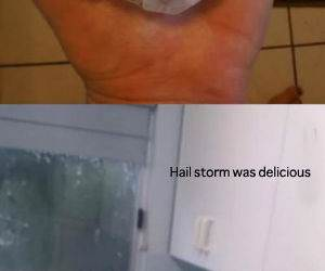 Hail Storm funny picture