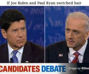 Joe Biden and Paul Ryan Hair Switch
