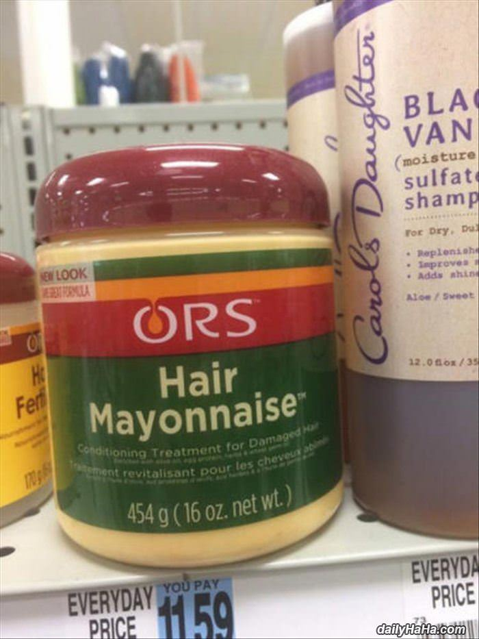 hair mayonnaise funny picture