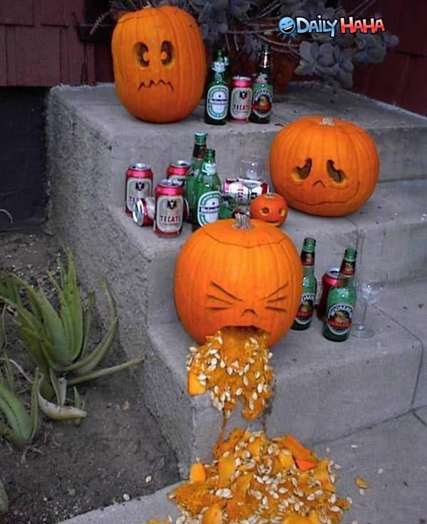 Halloween Puke Pumpkins