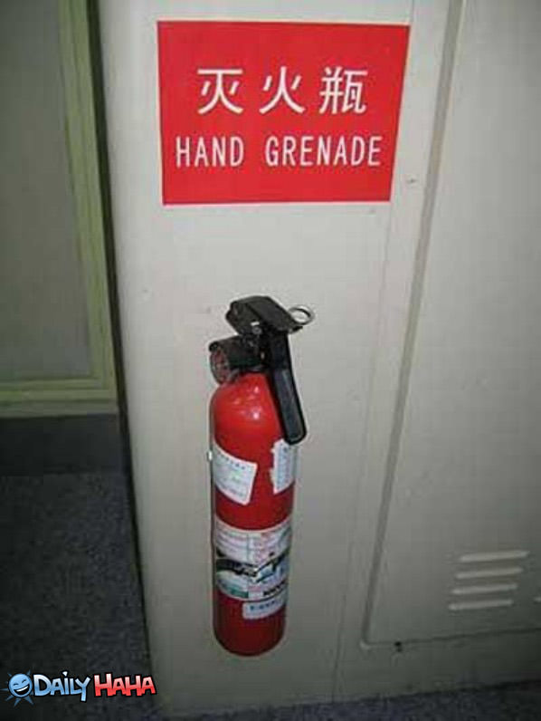 hand grenade sign