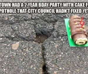 happy birthday pothole funny picture