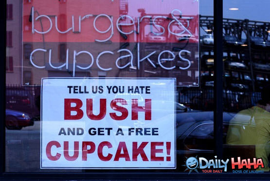 Free cupcake for Bush Haters