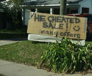 he cheated sale