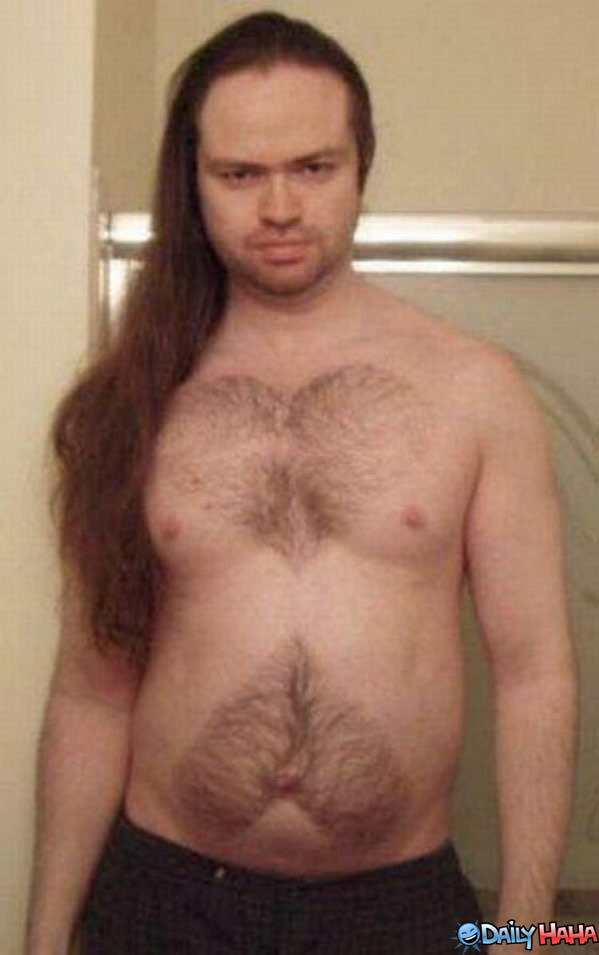 Sexy Beast Chest Hair Funny Picture