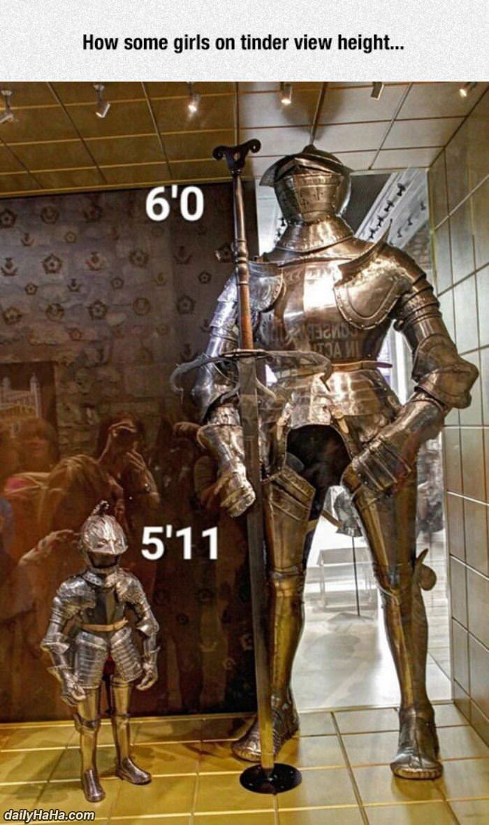 height on tinder funny picture