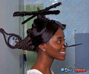 Helicopter Hair Funny Picture