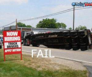 Truck Drivers Fail funny picture