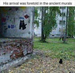 his arrival was fortold