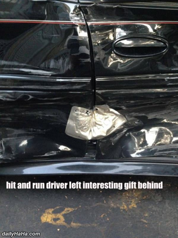 hit and run funny picture