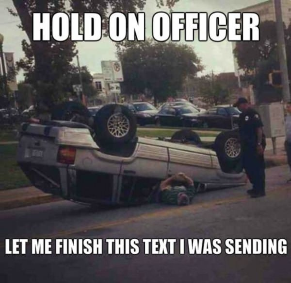 Hold on Officer funny picture
