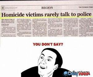 Homicide Victims funny picture
