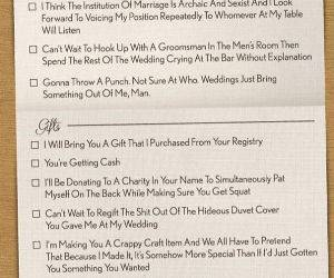 honest wedding invitation funny picture