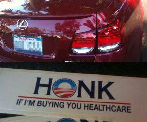 Honk for Healthcare funny picture