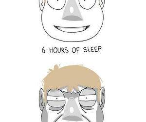 Hours of Sleep Faces funny picture