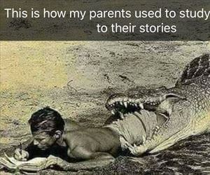 how our parents used to study