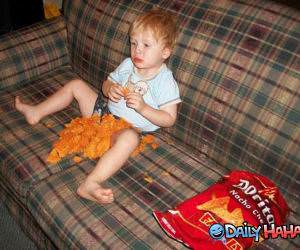 Eating Doritos funny picture