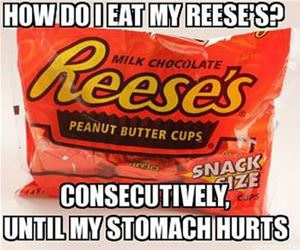 how do i eat reeses funny picture